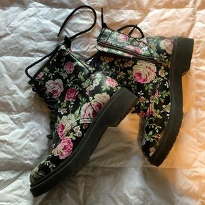Mossimo floral combat boots